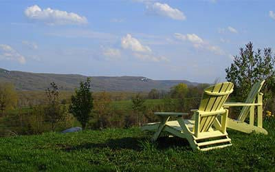 Adirondack Chairs overlooking the Beaver Valley Grey Highlands
