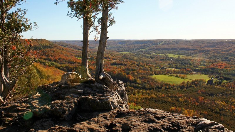 View from Old Baldy Overlooking Beaver Valley Grey Highlands