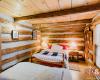 bedroom in log chalet in kimberley